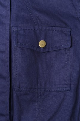 Ada Gatti jacket D308 blue - fabric detail