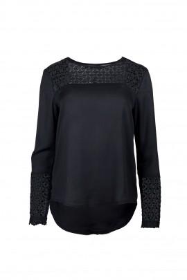 Blusa Ada Gatti JY080 black frente