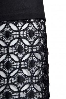 Blouse Ada Gatti JY080 black fabric detail