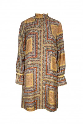 Vestido V956 mustard