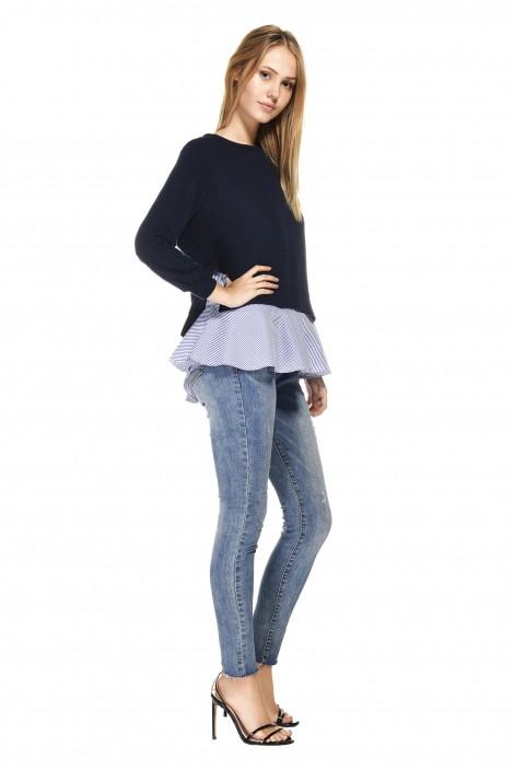 Ada Gatti pullover and blouse set V983